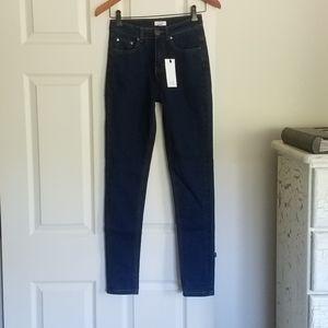 "NEW Tobi 25 - 26x29.5"" High Rise Jean Dark Skinny"